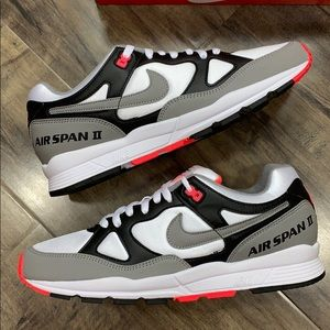 NIKE AIR SPAN II black/dust-solar red white men's